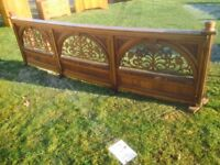 Victorian oak pulpit rail