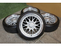 "Genuine Keskin KT4 17"" Alloy wheels 4x100 & 4x108 Clio Corsa Civic Fiesta Astra Alloys"