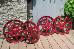 "15"" Wheel Covers, Candy Red / Enjoliveurs 15"" rouge-candy"