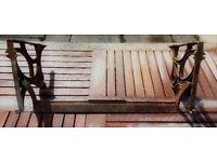 Vintage Cast Iron Shelf Brackets with crossbar, original not repro.