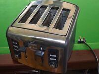 Breville 4-slice toaster, chrome