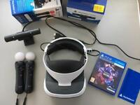 PSVR with camera, two controllers, ps worlds