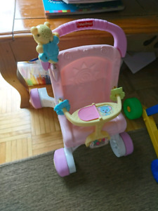 Stroller and play walker