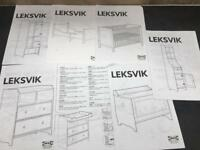 IKEA Leksvik Nursery Set Cot Wardrobe Drawers Shelves Changing Table Growing Toddler Bed & Toy Box!