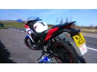 Honda cbr 125 r 2011 For sale, with 12 months MOT.