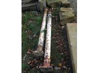Vintage cast iron columns