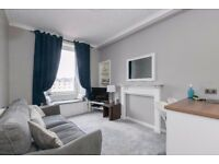 Stylish one bedroom Gorgie flat with double glazing and gas central heating.
