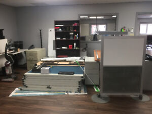 Office Dividers, Cabinets, Desks, Chairs