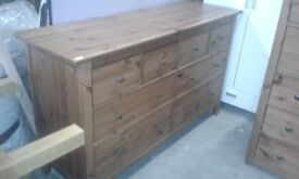 2 x matching Solid Wood Chest