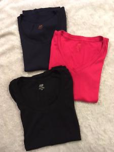 Women's Joe Fresh Plain T-Shirts x 3