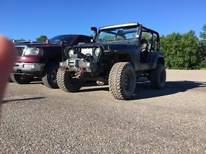 Jeep tj 4in lift on 33s