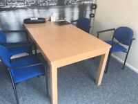 CHEAP OFFICE TABLE AND CHAIRS NEED TO BE SOLD ASAP
