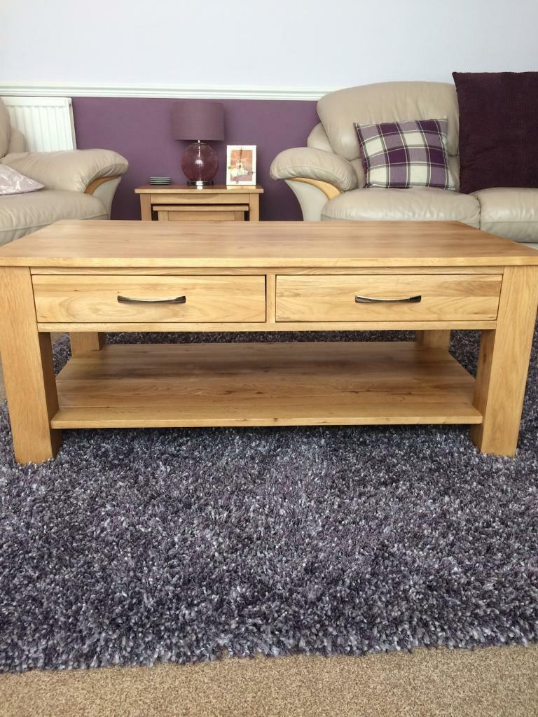 Magnificent Sherwood Oak Coffee Table With 4 Drawers In Elgin Moray Machost Co Dining Chair Design Ideas Machostcouk