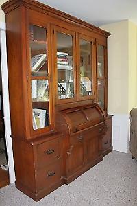 Antique Secretary Desk/Library Shelves