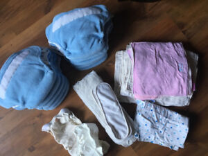 Large lot Cloth Diapers & liners