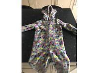 Girls Animal Print Onesie - aged 6 years