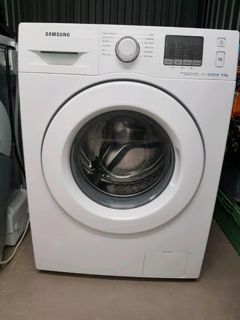 Samsung ecobubble washing machine WF80F5E0W4W/EU
