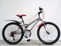"FREE Lights with (2631) 24"" CLAUD BUTLER BOYS GIRLS MOUNTAIN BIKE BICYCLE; Age: 8-10, 127-142 cm"