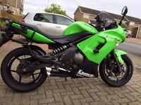Well looked after Kawasaki ER6-F parallel twin.