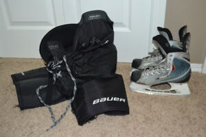 Bauer Youth Hockey Skates Size 5D and Junior Large Bauer Pants