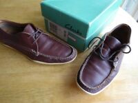 Men's Clarks loafer boat shoes - Size 8