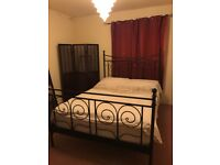 Black Ikea Bed Frame - used but good condition