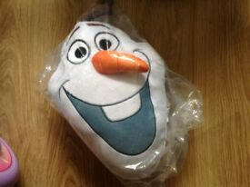 Disney frozen new with tags Olaf cushion