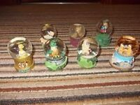 Collection of 7 Small Place Inspired Snow Globes