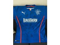 Rangers FC Home 2013/14 shirt, fully signed