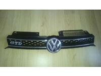 Front Grill VW Golf MK6 GTD