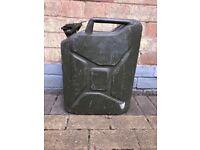 large metal petrol / oil / diesel jerry can