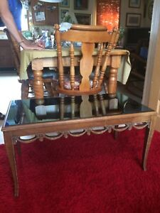 Ornate Coffee Table with blue mirror top REDUCED!!!!!!!!!!!