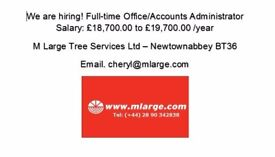 Office/Accounts Administrator Salary: £18,700.00 to £19,700.00 /year
