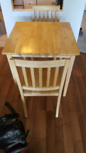 Small table and chairs.