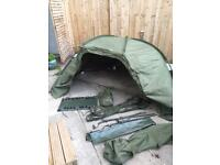 Nash titan brolly as pro with ground sheet and wrap