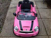 Kids Pink Mini Hatch Ride On