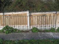 Pair of metal gates.