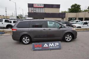2012 Toyota Sienna LE backup camera, rims 8 pass power doors FWD