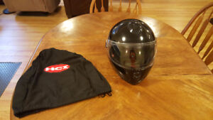 HCI Black Full Face Helmet with Clear Shield