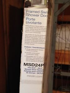Brand new glass shower door