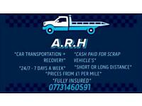 A.R.H CAR TRANSPORT + RECOVERY SERVICE