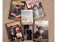 JUST WILLIAM by Richmal Crompton - Bundle of 4 books (audio cassettes also available)