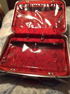 Reduced to $20 Red vintage suit case