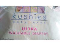 5 Kushies washible nappis 10-20kg