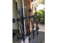 Bike roof rack for a Vauxhall insignia with 4 bike holders, mint condition complete with all locks