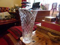 LEAD CRYSTAL GLASS VASE