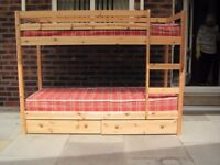 SHORTY LENGTH SOLID PINE BUNK BED