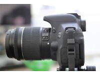 Canon 700D camera with 18-55mm kit lens