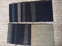 JOB LOT QUALITY TWEED CASHMERE PIN STRIPE FABRIC SAMPLES FOR QUILTING SEWING DRESSMAKING