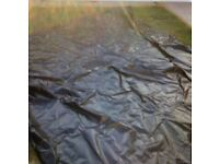 Pond liner / oak sleeper lining £30